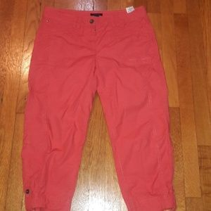 Tommy Hilfiger Crop Capri Ankle Pants Sz 10 Red